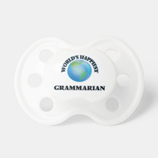 World's Happiest Grammarian BooginHead Pacifier