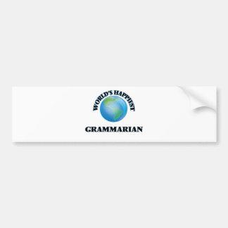 World's Happiest Grammarian Car Bumper Sticker