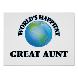 World's Happiest Great Aunt Poster