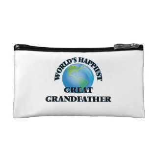 World's Happiest Great Grandfather Cosmetics Bags