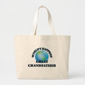 World's Happiest Great Grandfather Jumbo Tote Bag