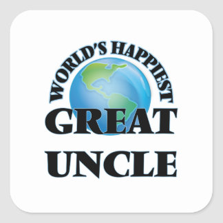 World's Happiest Great Uncle Square Sticker