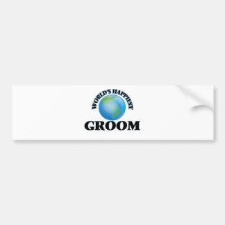 World's Happiest Groom Car Bumper Sticker
