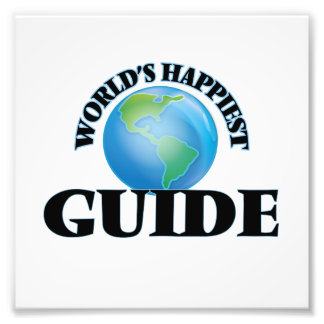 World's Happiest Guide Photo Print