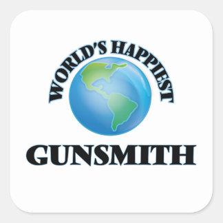 World's Happiest Gunsmith Square Sticker