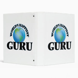World's Happiest Guru 3 Ring Binders