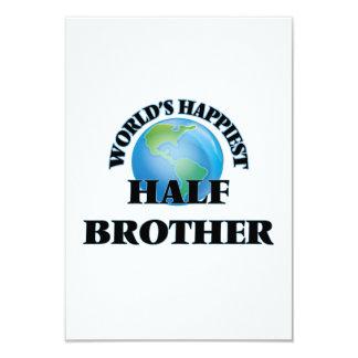 World's Happiest Half-Brother 3.5x5 Paper Invitation Card