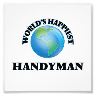 World's Happiest Handyman Photo Print