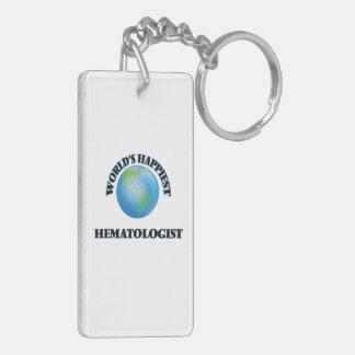 World's Happiest Hematologist Double-Sided Rectangular Acrylic Keychain