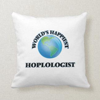 World's Happiest Hoplologist Throw Pillows