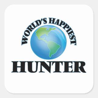 World's Happiest Hunter Square Sticker