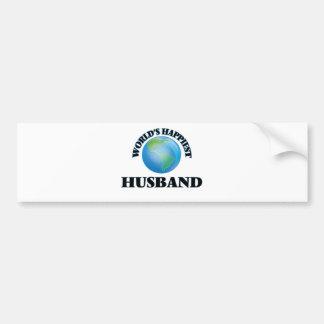 World's Happiest Husband Car Bumper Sticker