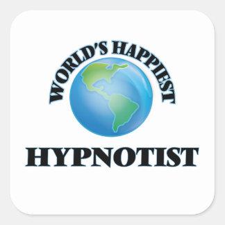 World's Happiest Hypnotist Square Sticker