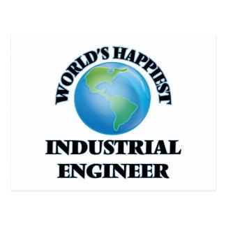 World's Happiest Industrial Engineer Postcard