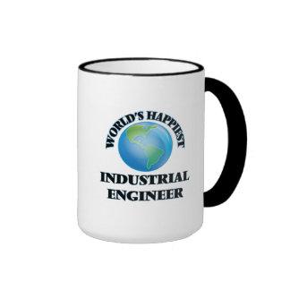 World's Happiest Industrial Engineer Ringer Coffee Mug