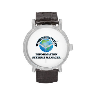 World's Happiest Information Systems Manager Wrist Watches