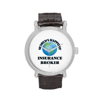 World's Happiest Insurance Broker Wrist Watch