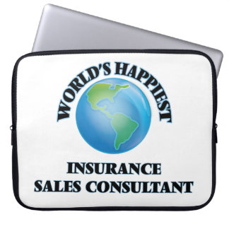 World's Happiest Insurance Sales Consultant Computer Sleeves