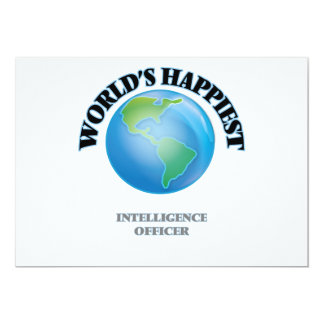 World's Happiest Intelligence Officer 5x7 Paper Invitation Card