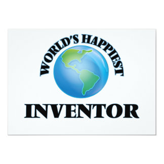 "World's Happiest Inventor 5"" X 7"" Invitation Card"