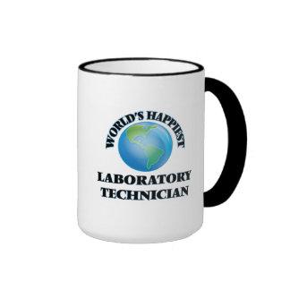 World's Happiest Laboratory Technician Ringer Mug