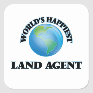 World's Happiest Land Agent Square Sticker