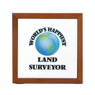 World's Happiest Land Surveyor Desk Organizer