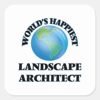 World's Happiest Landscape Architect Square Sticker