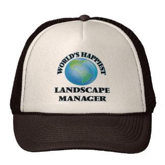 World's Happiest Landscape Manager Trucker Hat