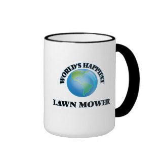 World's Happiest Lawn Mower Ringer Mug