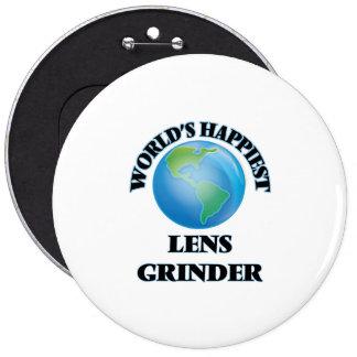 World's Happiest Lens Grinder 6 Inch Round Button