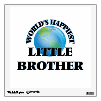World's Happiest little Brother Wall Decals