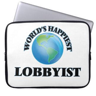 World's Happiest Lobbyist Laptop Sleeve