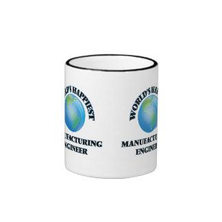 World's Happiest Manufacturing Engineer Ringer Coffee Mug