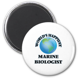 World's Happiest Marine Biologist 2 Inch Round Magnet