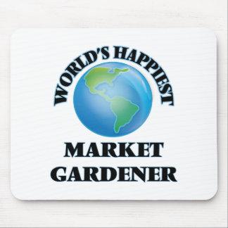 World's Happiest Market Gardener Mouse Pad