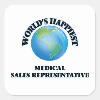 World's Happiest Medical Sales Representative Square Sticker