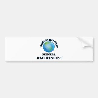 World's Happiest Mental Health Nurse Bumper Sticker