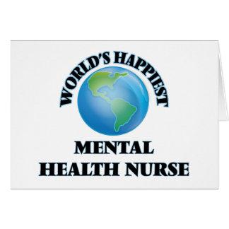 World's Happiest Mental Health Nurse Card