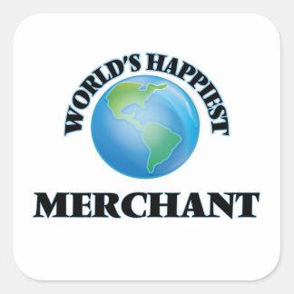 World's Happiest Merchant Square Sticker