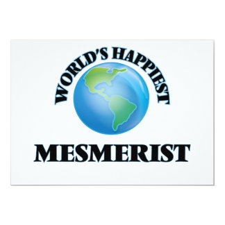 "World's Happiest Mesmerist 5"" X 7"" Invitation Card"