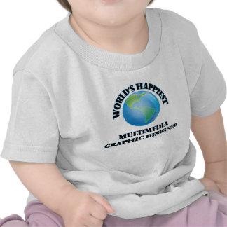 World's Happiest Multimedia Graphic Designer T-shirts