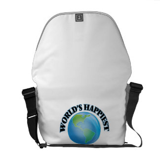 World's Happiest Multimedia Programmer Courier Bags