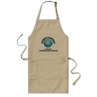 World's Happiest Nature Conservation Officer Long Apron