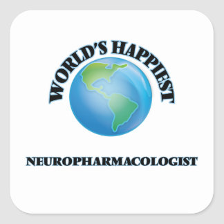 World's Happiest Neuropharmacologist Square Sticker