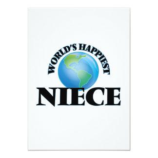 World's Happiest Niece 5x7 Paper Invitation Card