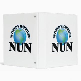 World's Happiest Nun Vinyl Binders