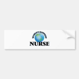 World's Happiest Nurse Bumper Sticker