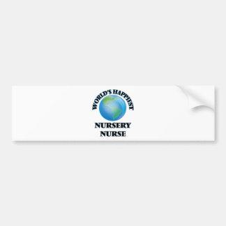 World's Happiest Nursery Nurse Bumper Sticker