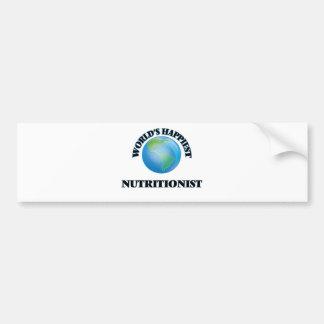 World's Happiest Nutritionist Car Bumper Sticker